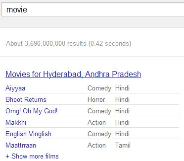 movies search result