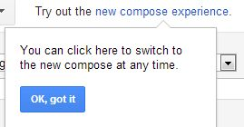 Try new compose link Gmail