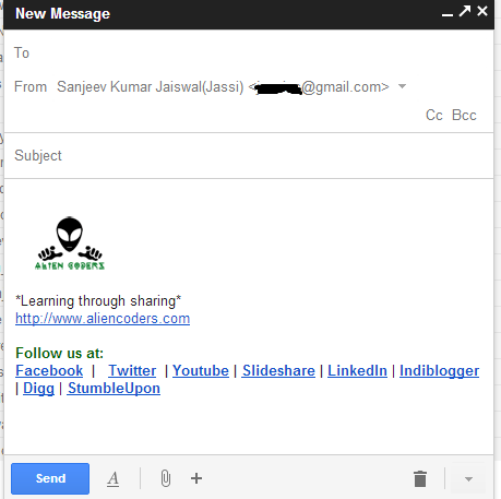 New Compose Layout Gmail