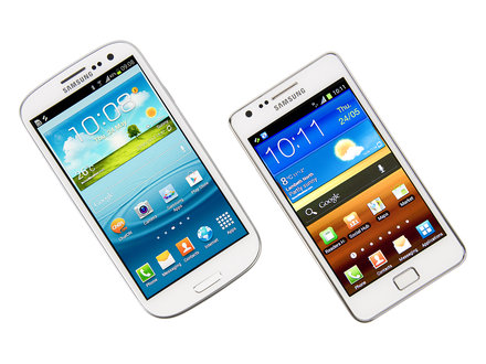 Samsung Galaxy SII and SIII