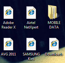 All icons changed to IE
