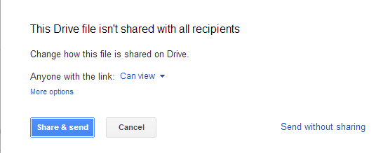 Send Option in Gmail
