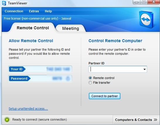TeamViewer after installation