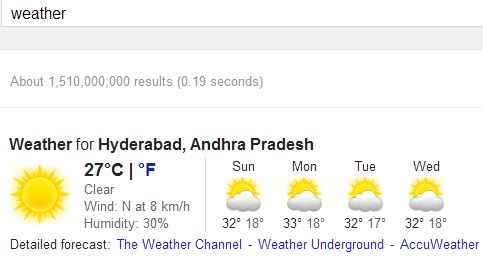 weather search result