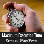 maximum execution time in wordpress