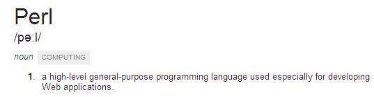 Definition of Perl