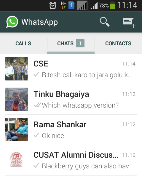 New Whatsapp Layout chat window