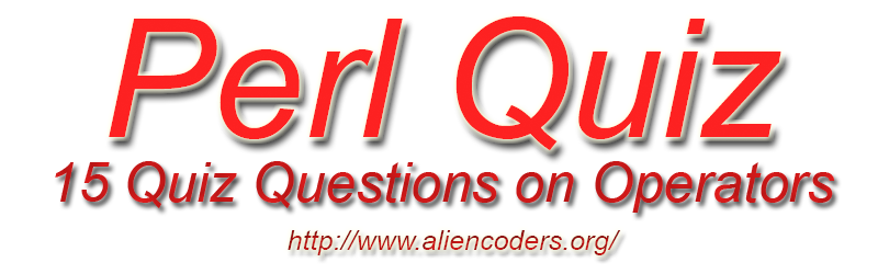 Operators in Perl quiz